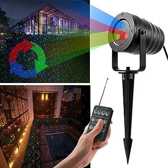 Dexors - Proyector móvil de luces LED RGB, exterior, impermeable ...