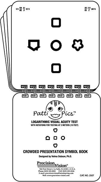 Amazon Kids Eye Chart Test 16 Page Flip Book Health Personal