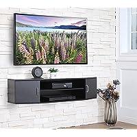 FITUEYES Mueble TV Gabinete de Salon con 2 Puertas Estanteria Suspendido para Dormitorios/Salas de Estar/Oficina…