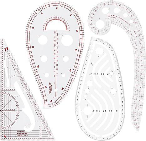 Regla para coser, Acrux7, juego de 4 herramientas de costura ...