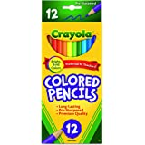 Crayola 12 Coloured Pencils,  Strong Leads, Bright Colours, Art and Craft, School booklist, Premium, Back to School, Creativity