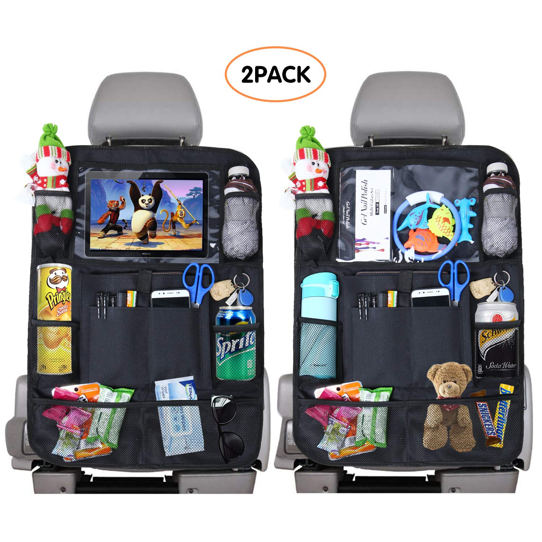 ویکالا · خرید  اصل اورجینال · خرید از آمازون · Fullsexy 2 Pack Car Organizer Back Seat with Touch Screen Tablet Holder,and 9 Storage Pockets Seat Back Protectors for Kids Toy Drink Book and Travel Accessories wekala · ویکالا