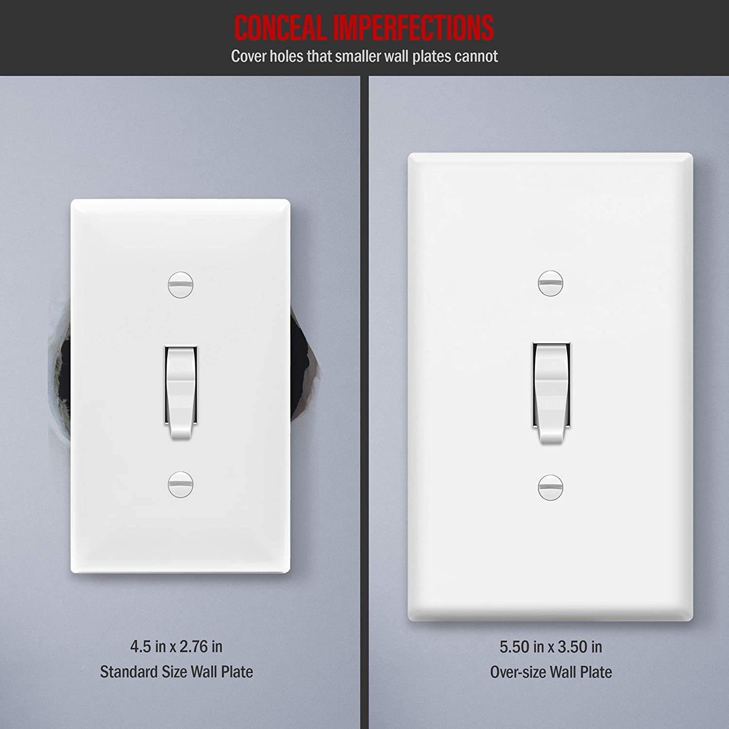 1 X Vynco Vertical Wall Light Switch Outlet 5 FIVE Gang Cover Plate GPO USB