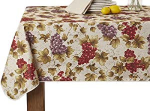 Violet Linen European Vineyard Oblong/Rectangle Tablecloth 60