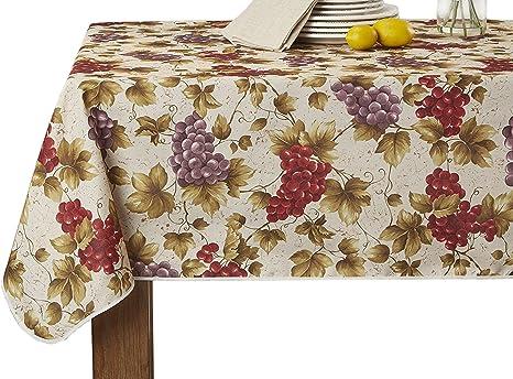 Amazon Com European Vineyard Tablecloth Beige 60 X 102 Home Kitchen