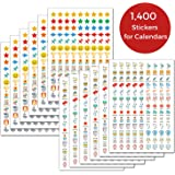 CRANBURY Daily Planner Stickers for Calendars - (Set of 1400), 46 Unique Designs, Calendar Stickers for Bullet Journal…