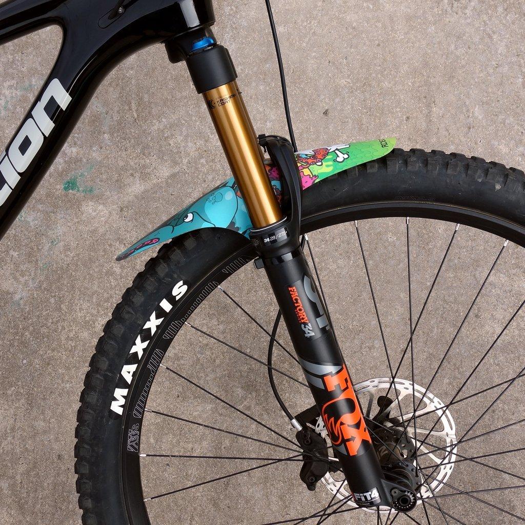 Front MTB XL Mudguard Enduro Guard Mountain Bike Fender Zip Tie. RideGuard BFG Recycled Materials Mr D Multicoloured
