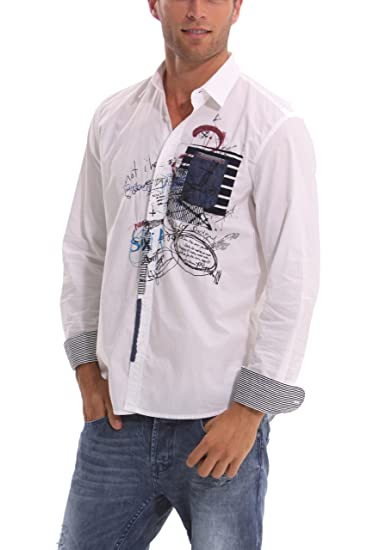 Desigual - Camisa Casual de Manga Larga para Hombre, Talla XL ...