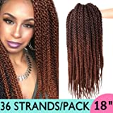 "Silike 3D Cubic Twist Braid (3 Pieces) 18"" Crochet Hair Ombre Synthetic Braid Extension"