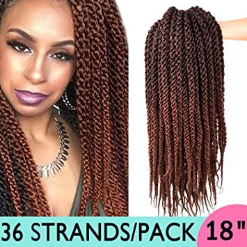 Amazon Com Silike 18inch 3d Cubic Twist Braid 3 Pieces 12roots
