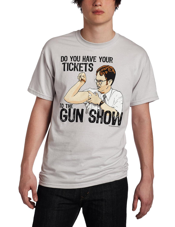 T-Line mens The Office Tv Series Gun Show Graphic T-shirt T-Line Young Men' s 7686