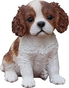 Hi-Line Gift Ltd Sitting King Charles Puppy Statue