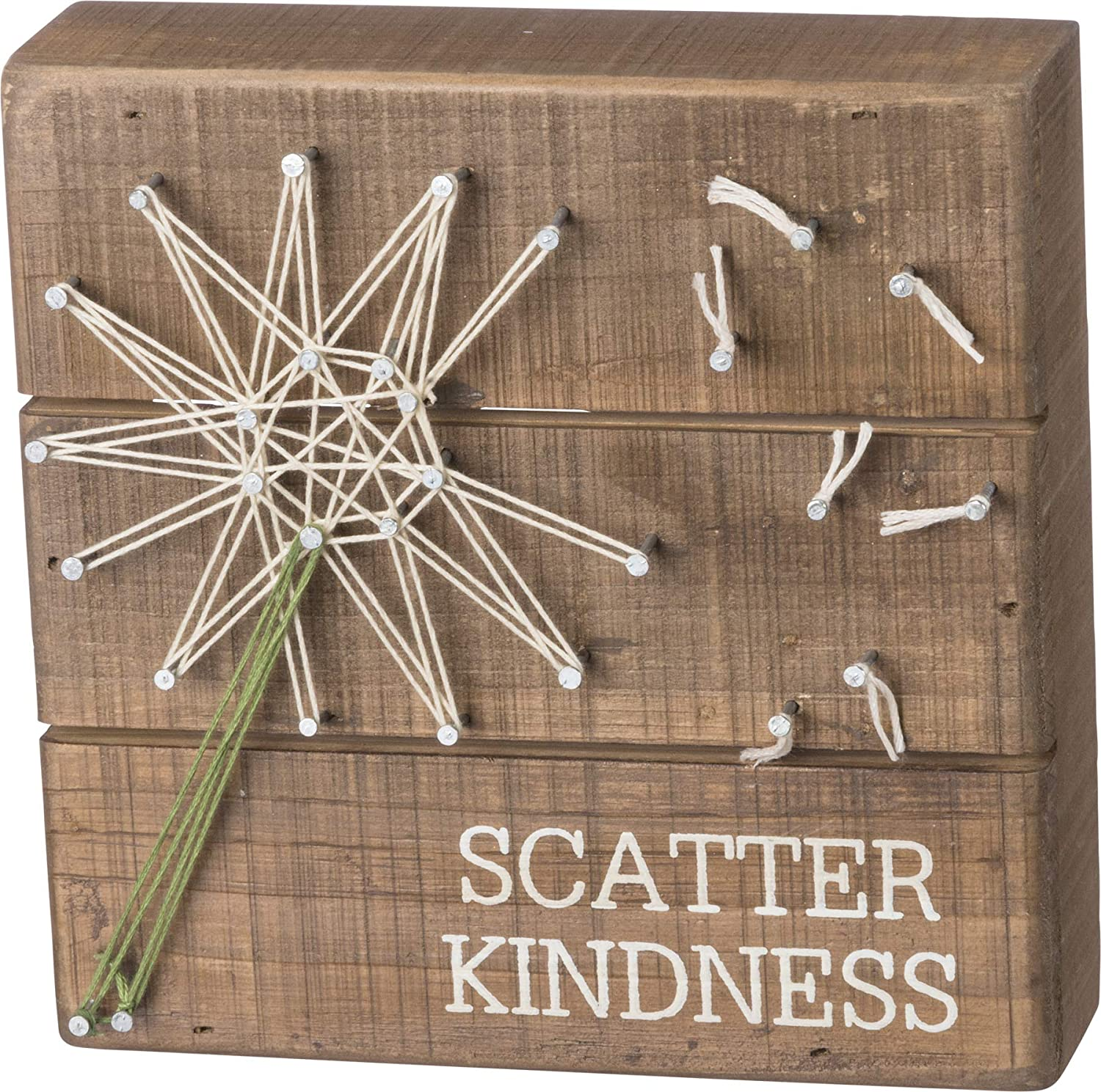 Primitives by Kathy String Art Wooden Box Sign, 6-Inches Square, Scatter Kindness