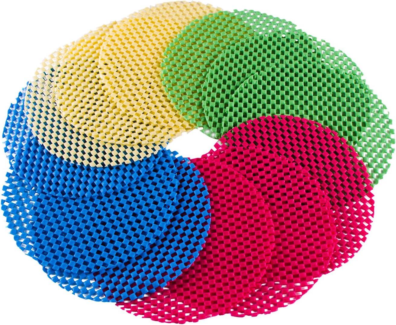 Multi Purpose Gripper Twister Pad Rounds Non Slip Rubber Jar Lid Opener 5 Pc