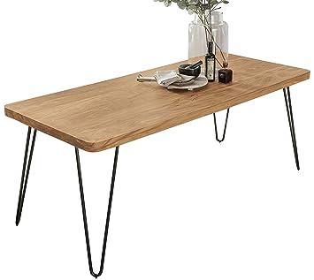 Finebuy Esstisch Massivholz Akazie 180 X 80 X 76 Cm Esszimmer Tisch