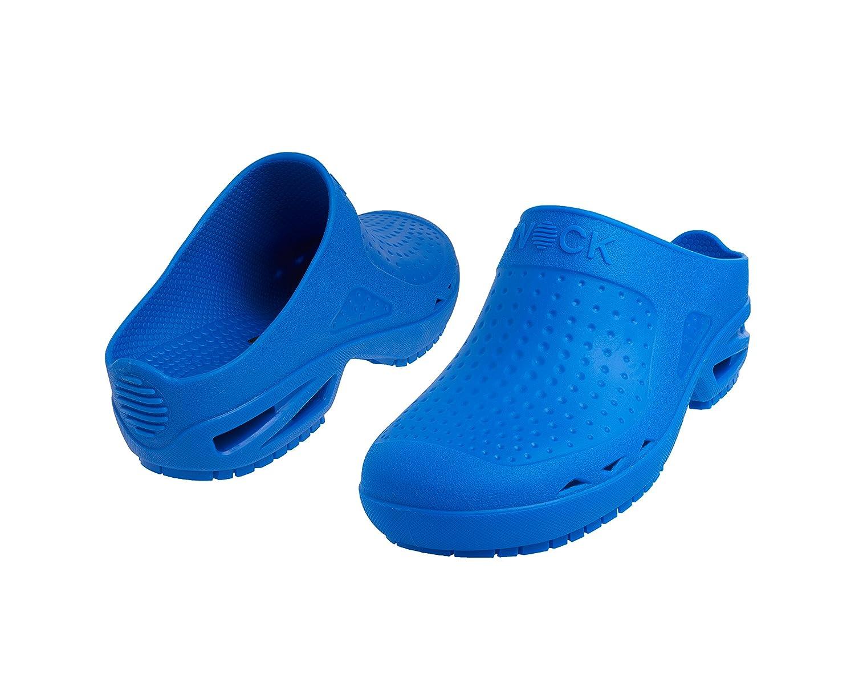 Bloc Ouvert - Chaussure professionnelle WOCK - Stérilisable, Antidérapante, Absorption des chocs, Respirable, Lavable - Fuchsia - EUR: 36