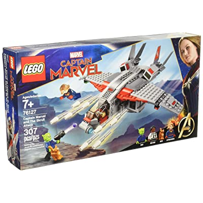 LEGO 76127 - Captain Marvel and The Skrull Attack (307pcs): Toys & Games