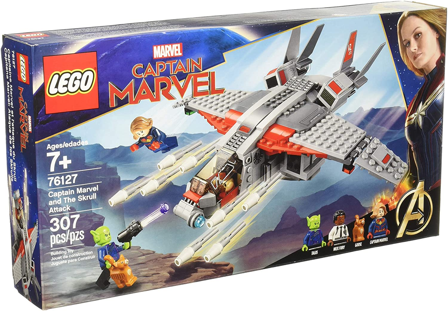 LEGO 76127 - Captain Marvel and The Skrull Attack (307pcs)