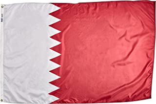 product image for Annin Flagmakers Model 196879 Qatar Flag Nylon SolarGuard NYL-Glo, 4x6 ft, 100% Made in USA to Official United Nations Design Specifications