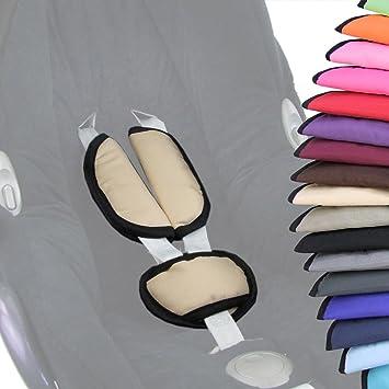 f/ür Babyschale Gruppe 0 z.B UNIVERSAL Maxi-Cosi SET beige R/ömer BAMBINIWELT 3tlg Gurtpolster+Schrittpolster