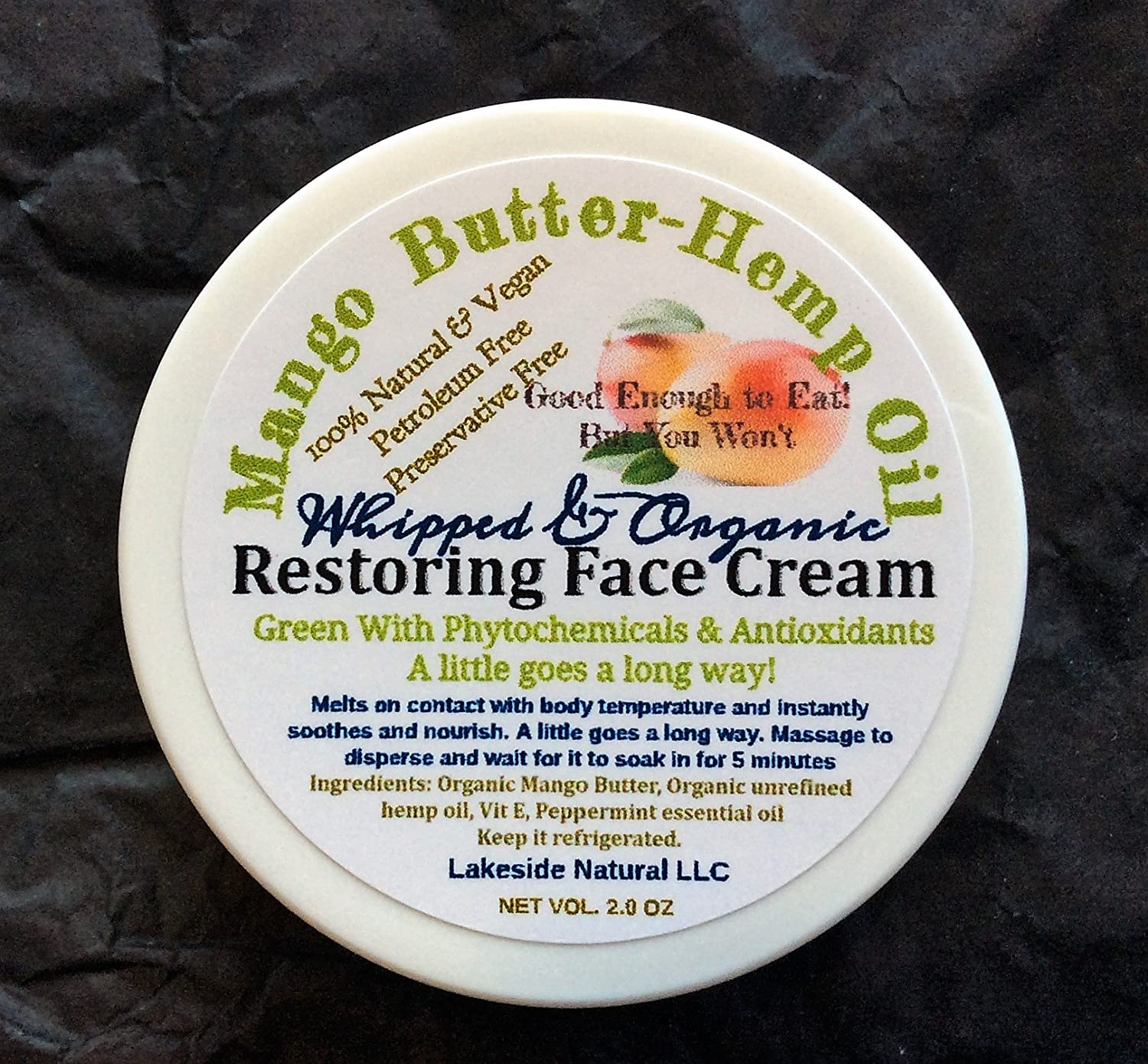 Zero Aqua Concentrated Instant Repair Face Balm Whipped & Organic - Mango Butter Hemp Oil Hydration Cream For Mature and Dry Skin, Winter Month Limited Edition.