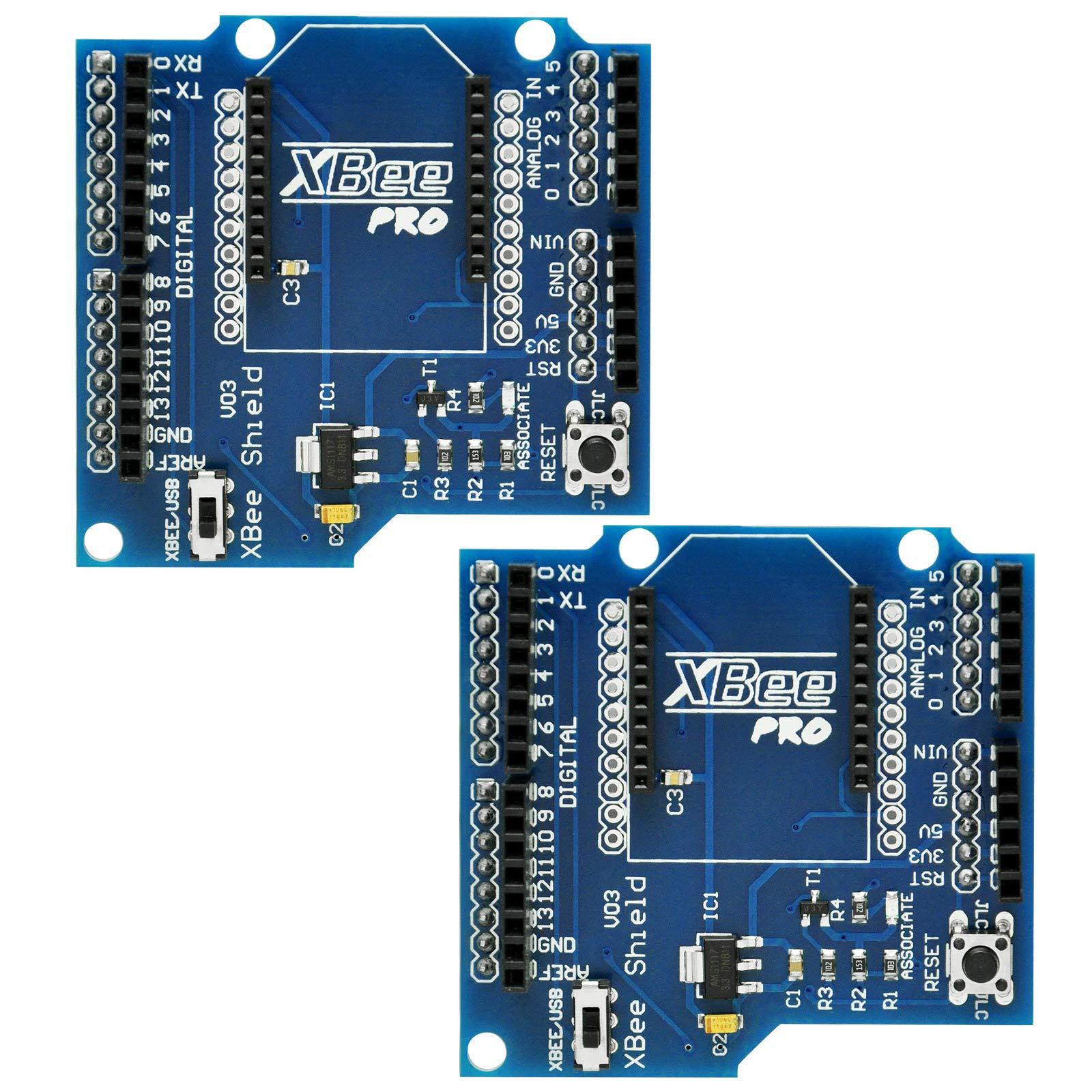 Gikfun Bluetooth XBee Shield V03 Module Wireless Control for ZigBee Arduino (Pack of 2pcs) EK1185x2 by Gikfun