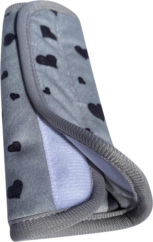 Sangle de s/écurit/é pour les /épaules HECKBO/® Lot de 2 protections de ceinture de s/écurit/é avec motif c/œur les gar/çons les si/èges de voiture pour enfants les gar/çons