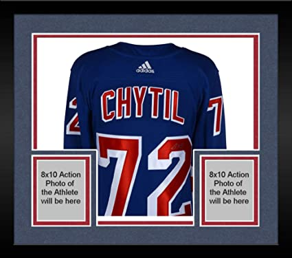 0acb2643d59 Framed Filip Chytil New York Rangers Autographed Blue Adidas Authentic  Jersey with