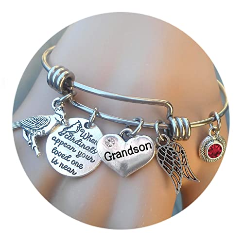 Cardinals appear your loved one is near bracelet Sympathy Gift Memorial Jewelry