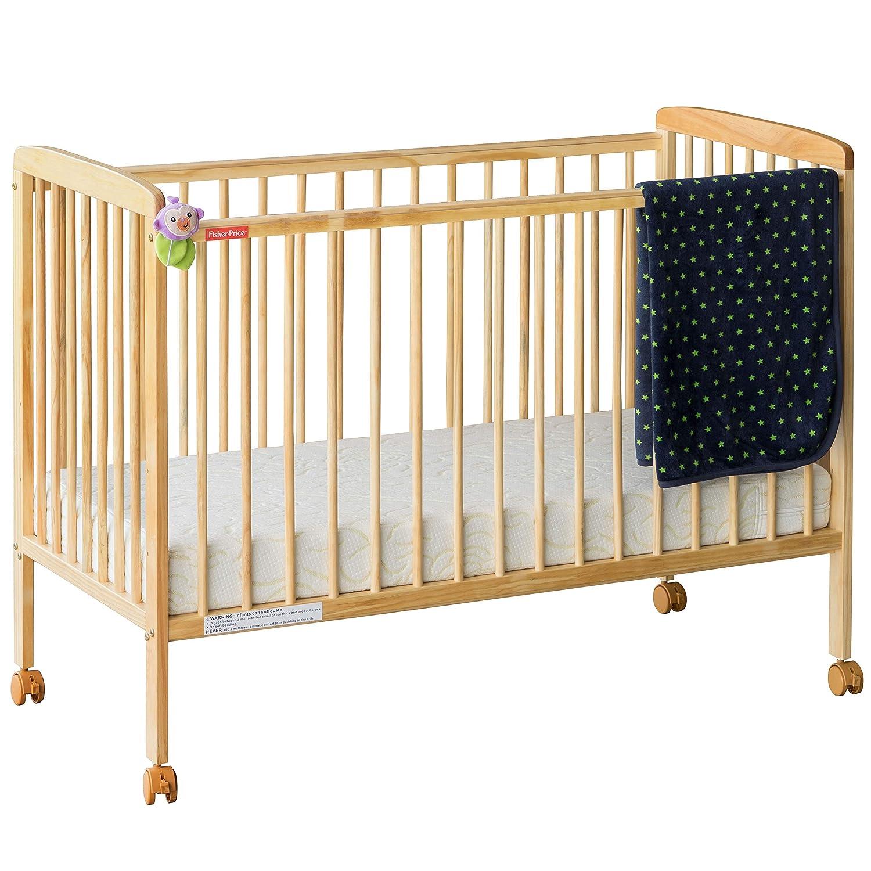 Fisher-Price Joy Baby Crib/Baby Cot (With Mattress, Natural Wood)