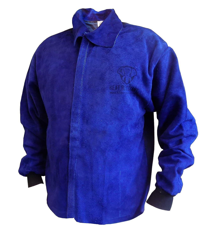 Tusker - Chaqueta de piel para soldar con respaldo de algodón ignífugo, resistente, L, 1: Amazon.es: Amazon.es