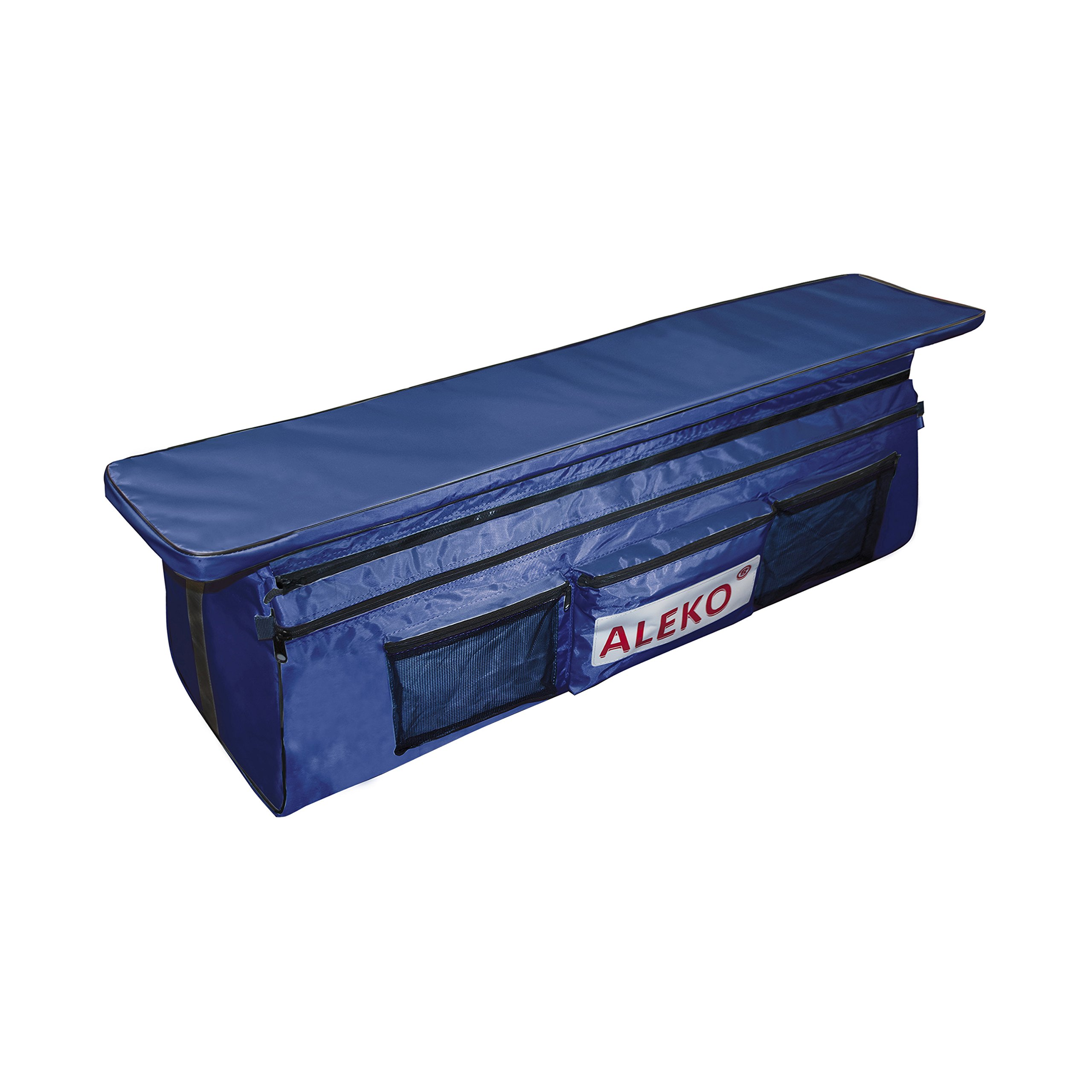ALEKO BSB420BV2 Seat Cushion with Under Seat Bag with Pockets for 13 or 14 Foot Inflatable Boats 41 x 9 Inches Blue