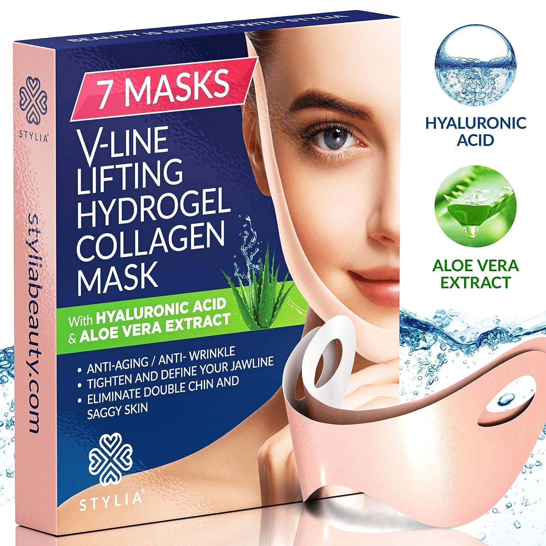 Amazon Com 7 Piece V Line Shaping Face Masks Lifting Hydrogel