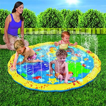ACHICOO Children PVC Inflatable Outdoor Spray Pad Ring Water Game Tool Toys for Summer