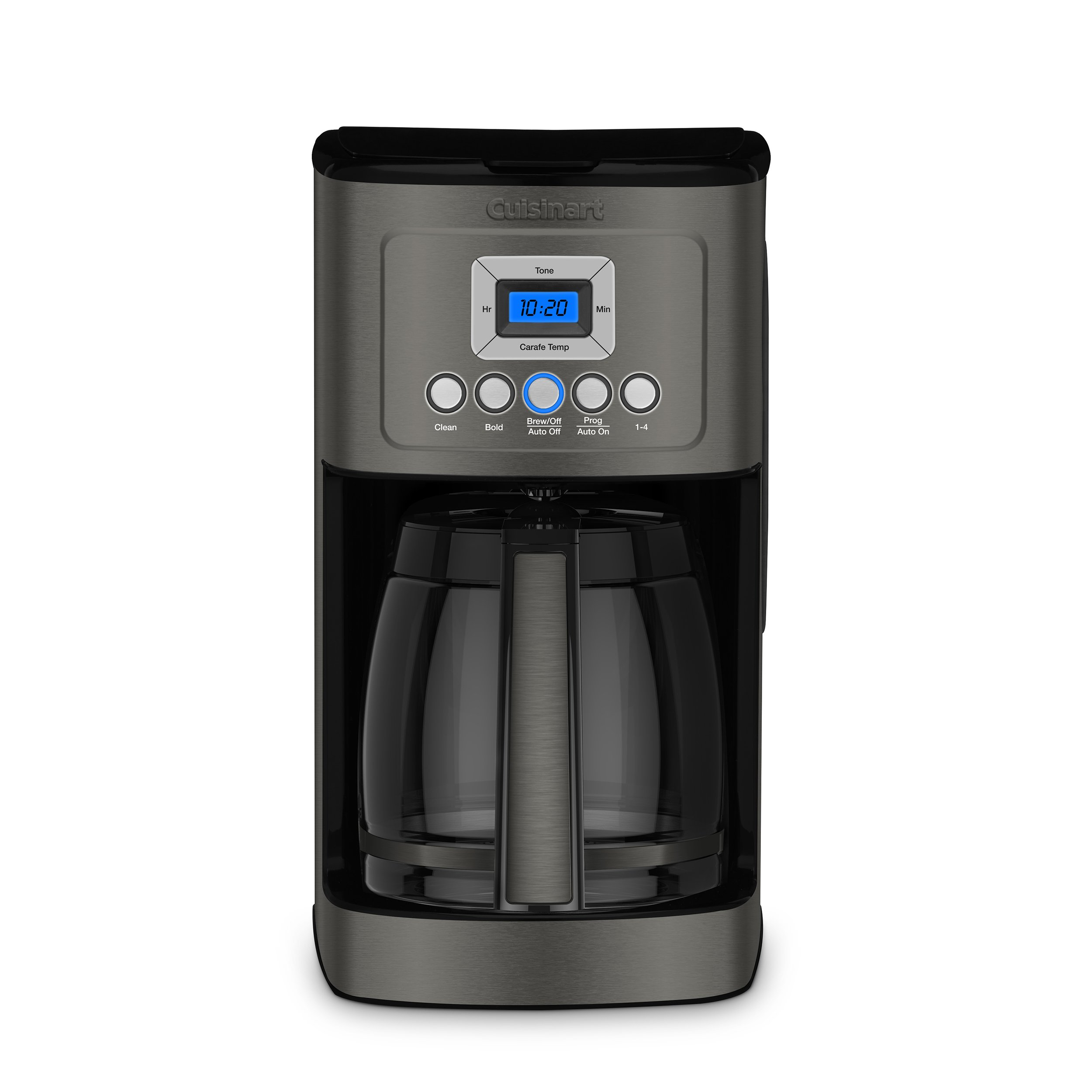 Cuisinart DCC-3200BKS Perfectemp Coffee Maker, 14 Cup Glass Carafe Black Stainless Steel
