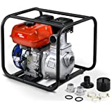 """AlphaWorks Water Transfer Pump Portable 7HP 196cc 4-Stroke Gas Engine EPA Certified 2"""" Inch Intake 132GPM Flow Rate 23FT Suct"""