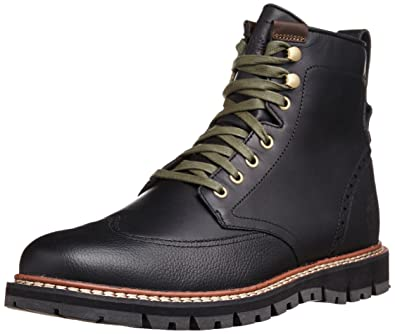 Timberland Men's Earthkeepers Britton Hill Wing Top Boot Waterproof Black Smooth 9.5 M