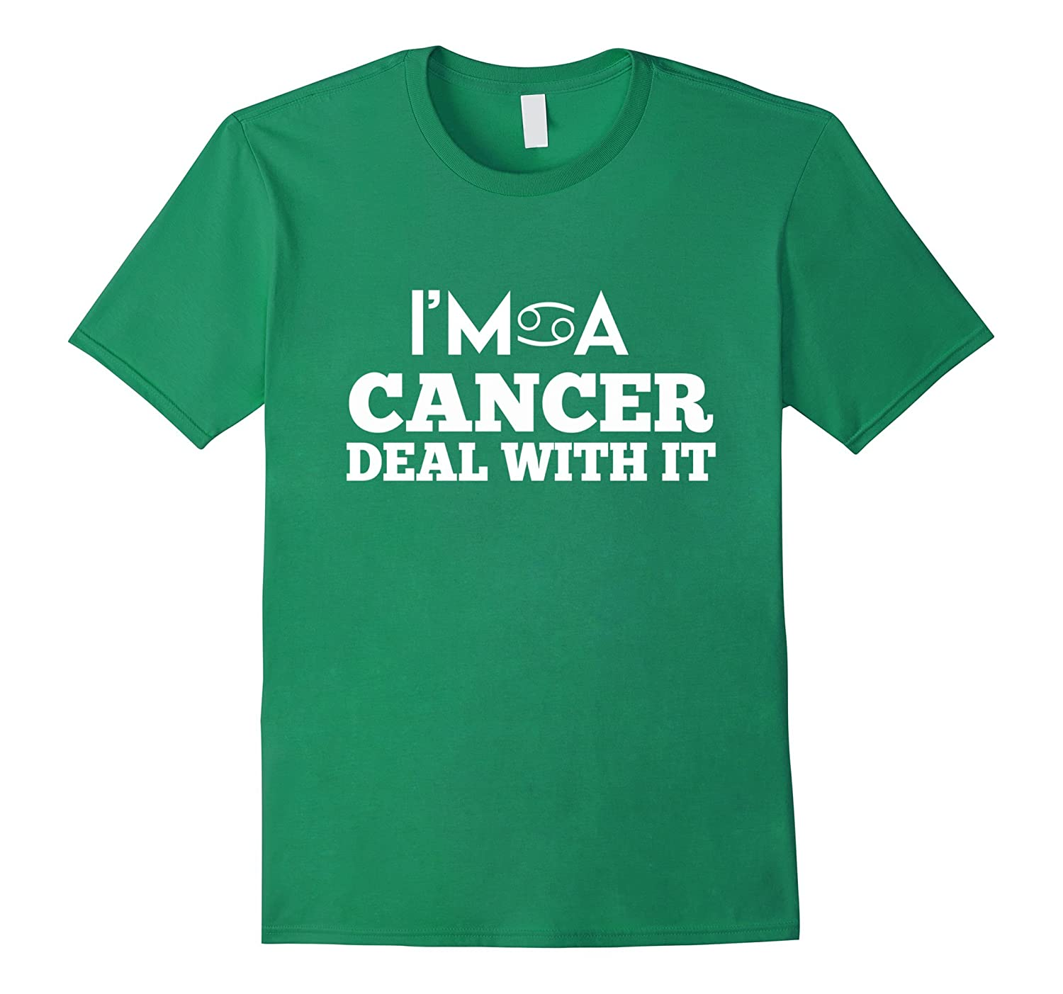 1d975314 Im A cancer Deal With It T-Shirt - Funny Astrology Tee-TH - TEEHELEN