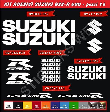 Pimastickerslab Adesivi Stickers Suzuki GSX-R GSXR 600 Moto Motorbike cod.0643