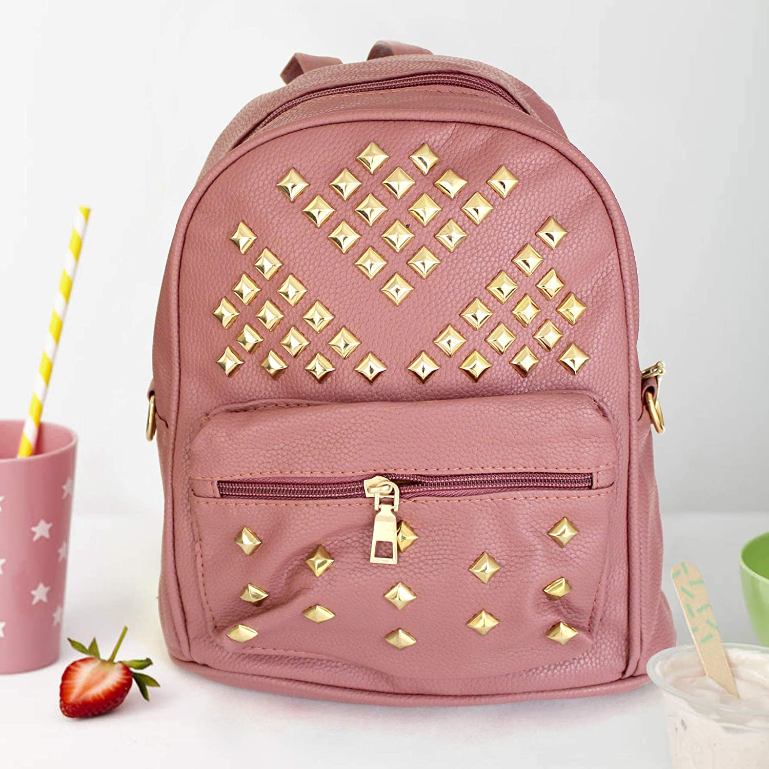 TIED RIBBONS Faux Leather Trendy Backpack for Coaching College School  Casual Bag Daypack for Girls   Women(Aztec Tribal Print eb6c270722721