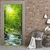 Door Wallpaper self adhesive - FOREST STREAM by Stickery