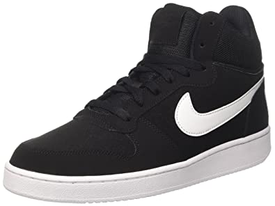 buy online e1f4c 15936 Nike Men s Court Borough Mid Hi-Top Sneakers, Black (Black white)