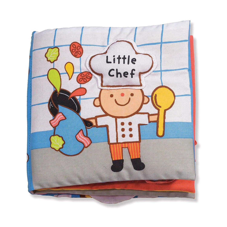 Melissa & Doug Soft Activity Book – Little Chef (Developmental Toys, Interactive Cloth Lift-the-Flap Baby Book, Machine Washable)