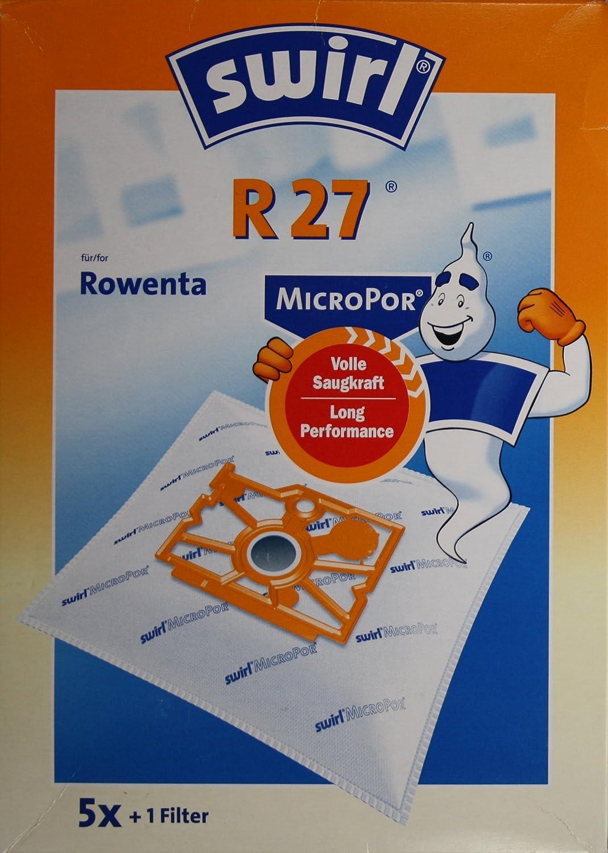 für Rowenta 16 Staubsaugerbeutel ... 4 Original SWIRL R 27 MicroPor® PLUS