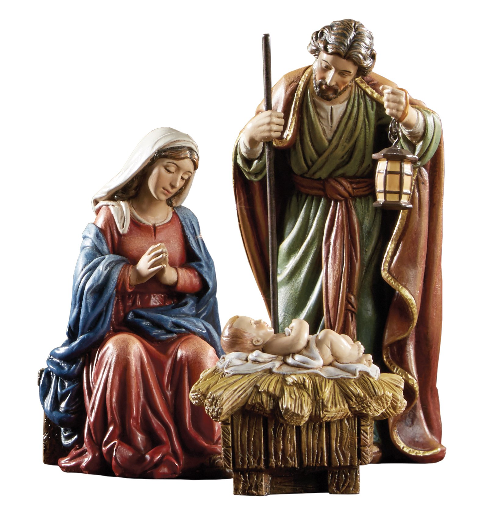 Avalon Gallery Michael Adams Christmas Holy Family 3-Piece Nativity Scene Set