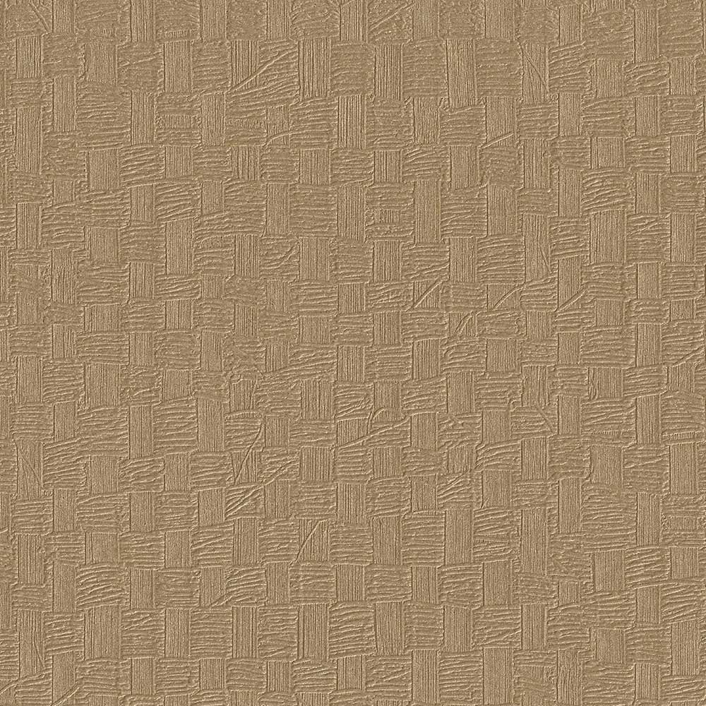 Woven Basket Metallic Bronze Geometric Textured Wallpaper For Walls - Double Roll - By Romosa Wallcoverings by Romosa Wallcoverings