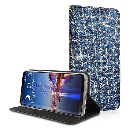 Funda Galaxy S9 Plus, Moon mood® Carcasa Piel de Cuero con Tapas y Cartera TPU ...
