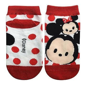 los ni?os de Disney calcetines Tsumutsumu Mickey y Minnie White Rojo 15cm ~ 21cm