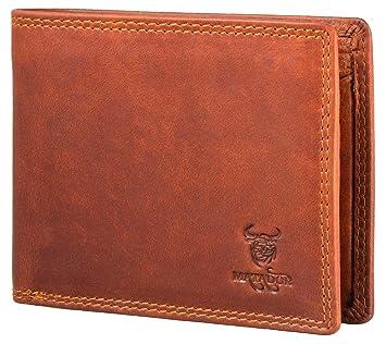 f12d1ed08f09f Matador Damen Herren Geldbörse   Echt-Leder Portemonnaie   Brieftasche RFID  Schutz Vintage Braun