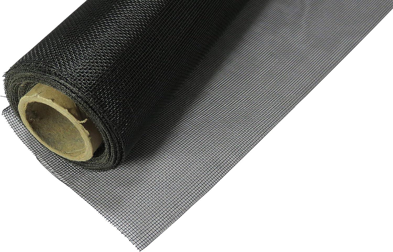 Rouleau moustiquaire en Fibre de verre Noire Black Fiberglass Screen roll 24